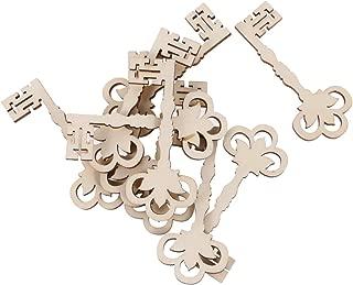 Jili Online 0pcs Blank Wooden Victorian Keys Embellishment Keys Cards Bookmark Scrapbooks DIY