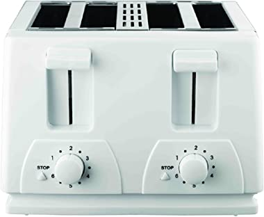 Brentwood Toaster Cool Touch, 4-Slice, White