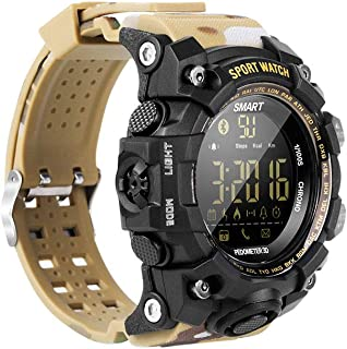 WMING Reloj Inteligente,Hombres Prueba De Agua Militar Reloj Al Aire Libre, con PodóMetro/Contador De CaloríAs/CronóMetro/Reloj Despertador Relojes Deportivos,Adecuado para Correr/Senderismo