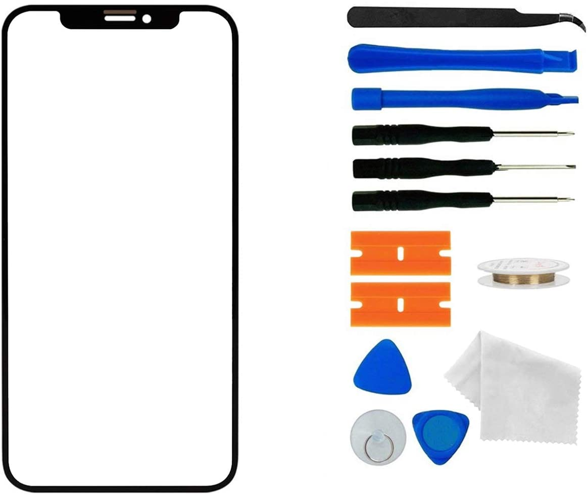 Original iPhone 12/12 Pro Screen Glass Replacement,Front Outer Lens Glass Screen Replacement Repair Kit for Apple iPhone 12/12 Pro Series (6.1 inch)