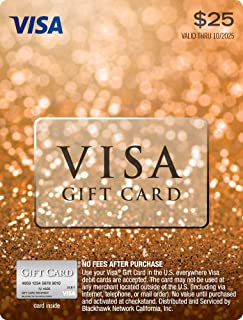 visa gift card no purchase fee