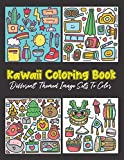 Kawaii Coloring Book. Different Themed Image Sets To Color: 48 Kawaii Cactus, Musical Instrument,...