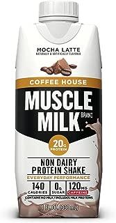 Muscle Milk Coffee House Protein Shake, Mocha Latte, 11 Fl Oz, 12 Pack