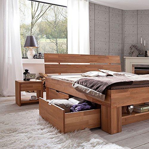Futonbett SOFIE mit Bettkasten und Fußteilregal 140 x 200 cm - 6