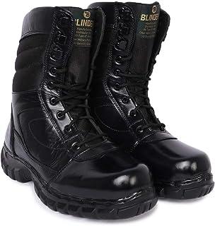 Blinder Black Long Lace-Up DMS Boots for Men