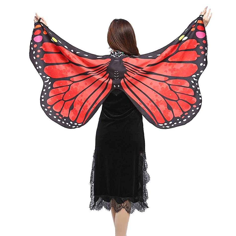 iHHAPY Shawls And Wraps For Women Soft Butterfly Wings Scarves Nymph Pixie Costume Accessory Cape Scarf Stole