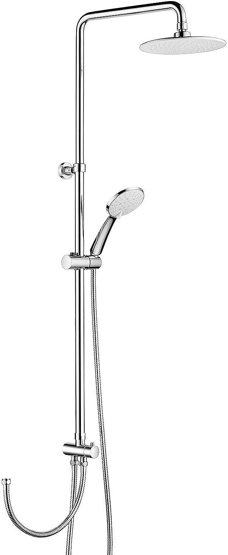 Duschsule Ohne Wasserhahn Regendusche Duscharmatur Duschkopf Duschsystem Inkl Handbrause Shower Set, Hhenverstellbar 85-118cm