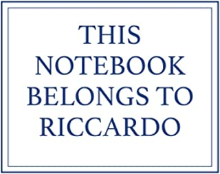 This Notebook Belongs to Riccardo