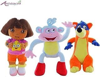 Ashland | Genuine Love Adventure of Dora, Monkey Boots, Swiper Dolls Plush Animals (3pcs)