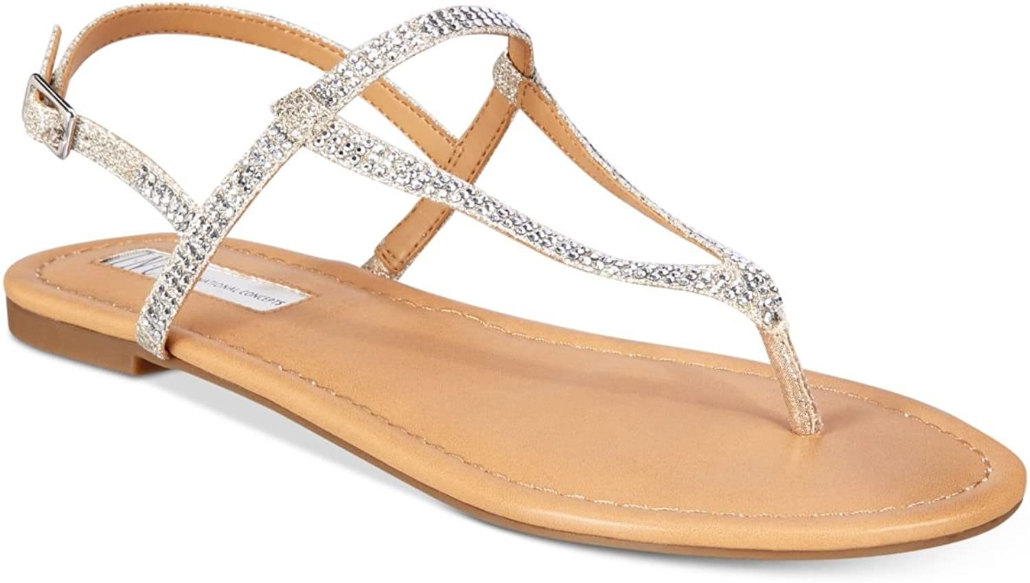 INC International Concepts Women's Macawi Embellished Flat Sandals pink Size 11 M US