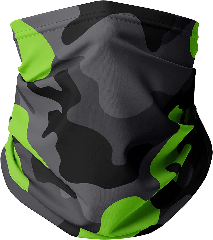Neck Gaiter Face Covering - Dark Camouflage