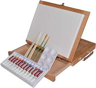 Art Advantage Wood Art Box Easel Paint Set (B265-ST)