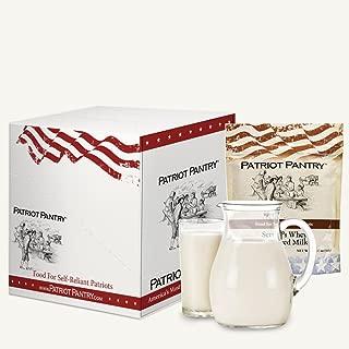 Patriot Pantry Powdered Milk Case Pack (96 servings, 6 pk.) Bulk Emergency Storage Food Supply, Up to 25-Year Shelf Life