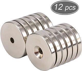 2 pezzi Magneti al neodimio occhielli magnetico occhielli di ricerca magnetico 42 mm nichelato molto forte