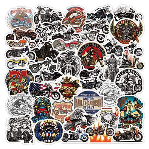 WYDML Harley Locomotive Motorcycle Personality Cool Value Laptop Travel Li Box Graffiti Waterproof Sticker 100Pcs