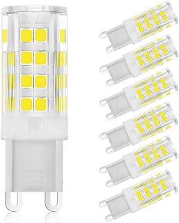 G9 LED Light Bulbs, 3W (40W Halogen Equivalent), 380LM, Cool White (6000K), G9 Base, G9 Daylight White Bulbs for Home Ligh...