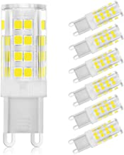 G9 LED Light Bulbs, 3W (40W Halogen Equivalent), 380LM, Cool White (6000K), G9 Base, G9 Daylight White Bulbs for Home Ligh...