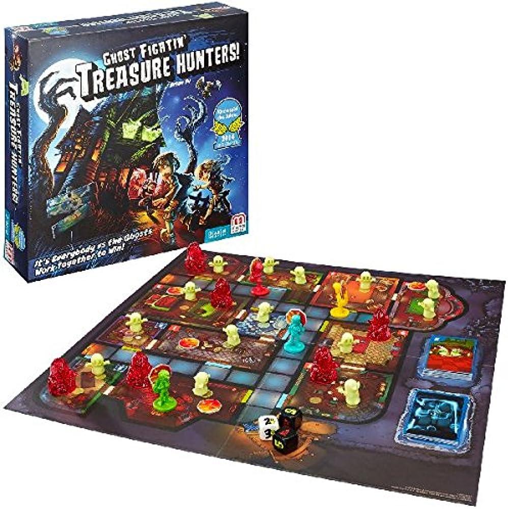 Mattel, games ghost fightin` treasure hunters, gioco da tavolo per famiglie FBH20