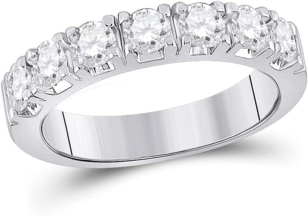 14kt White Gold Be super welcome Round Diamond Single Band 1 for Women Row Ring Same day shipping