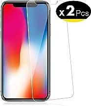 """NEW'C Verre Trempé pour iPhone 11 Pro, iPhone X, iPhone XS (5.8""""), [Pack de 2] Film Protection écran - Anti Rayures - sans Bulles d'air -Ultra Résistant (0,33mm HD Ultra Transparent) Dureté 9H Glass"""