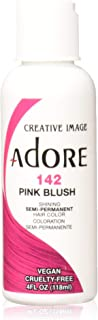 Adore Semi-Permanent Haircolor #142 Pink Blush 4 Ounce (118ml) (2 Pack)
