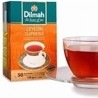 Dilmah Ceylon Supreme Ceylon Tea - 50 Tea Bags 100g