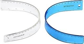 Neotiger Flexible Shatterproof Bendable Unbreakable Safe Soft Transparent Clear Plastic Straight Flat Ruler, 30 cm/12 inc...