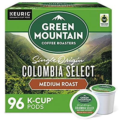 Green Mountain Coffee Colombian Fair Trade Select, Fair Trade, Single Origin, Medium Roast Coffee, 96 Count