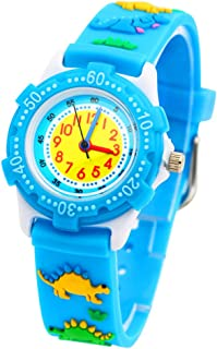 MINILUJIA 3D Cute Cartoon Silicone Wacth Toddler Kids Boys Girls Watch Analog Wrist Waterproof Watches for Ages 3-8 Analog Time Teacher