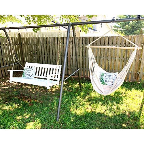 Chihee Hängematte Stuhl Große Hängematte Stuhl Entspannung Hängesessel Baumwolle Weben für Höchsten Komfort und Haltbarkeit Innen/Draußen Zuhause Schlafzimmer Terrasse Deck Hof Garten - 5