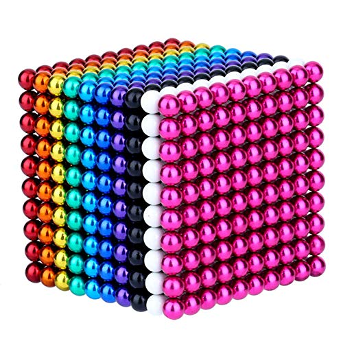 PPWW Magnetspielzeug Magnetic Multicolor Color Magnetic Ball, Magic Ball 5mm Cube Ball, Dekompressionspuzzle...