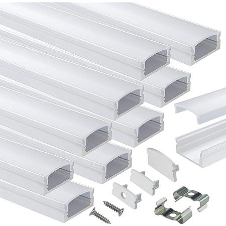 WAC Lighting LED-T-CH1-EC Deep Aluminum Channel End Caps Set of 2