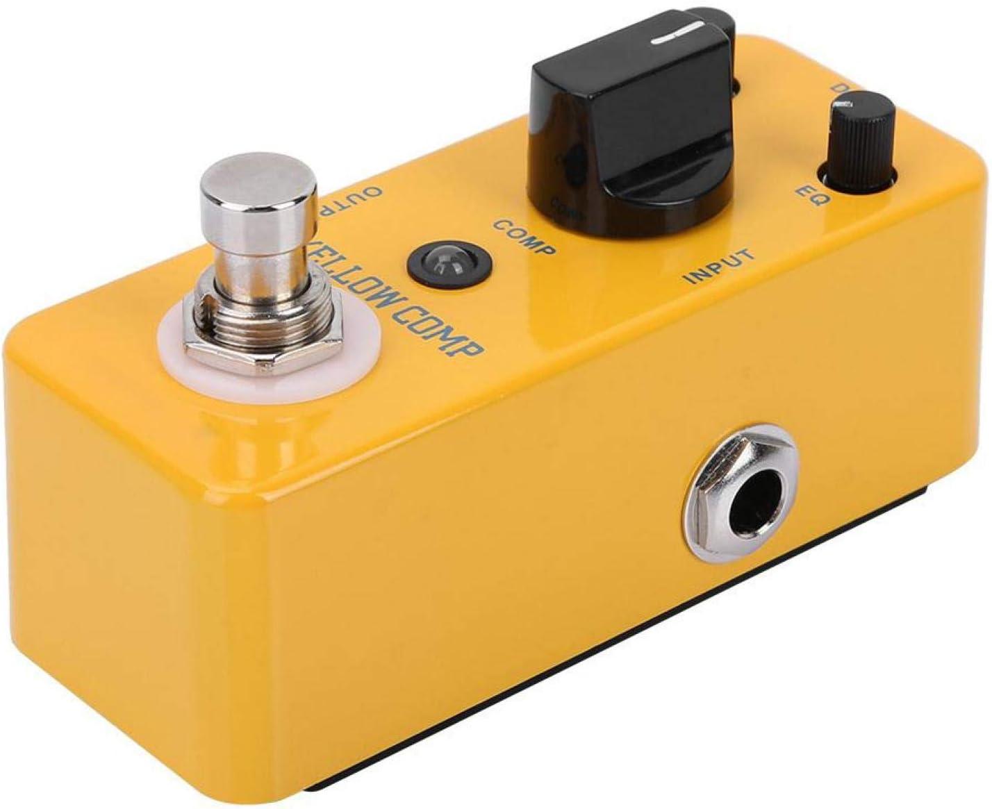 Efecto de guitarra Yellow Comp Práctico efecto de guitarra de compresor profesional para principiantes de guitarra
