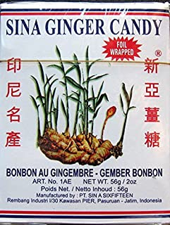 4 Boxes Sina Ginger Candy (Ting Ting Jahe) 2 oz.