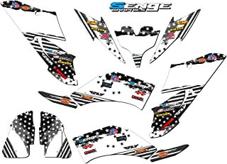 Senge Graphics kit compatible with Yamaha All Years Raptor 250, Merica MATTE BLACK Graphics kit (this kit has a matte finish, not gloss). WITH EXTRA COVERAGE