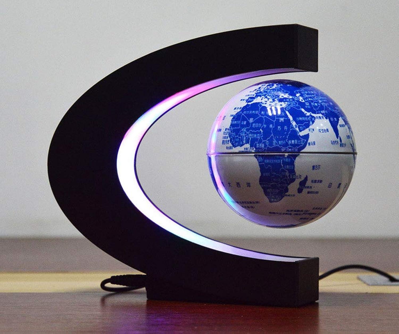 Magnetische Suspension Globe 4 Zoll C Form Leuchtende Rotation LED Desktop Dekoration Tischlampe Perfekte Geschenk,Thespherotoesnotglow