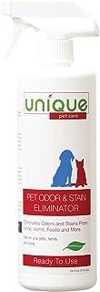 Unique Pet Odor and Stain Eliminator   Removes Old and New Stains   Eliminates Odors and Stains From Urine, Vomit, Feces a...