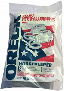 Genuine Oreck XL Buster B Canister Vacuum Bags PKBB12DW Housekeeper Bag 12 Pack
