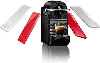 Nespresso De'Longhi Pixie Clips EN126 - Cafetera monodosis de cápsulas Nespresso, 19 bares, apagado automático, colores intercambiables rojo y blanco