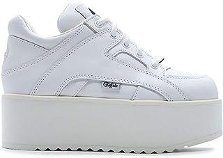 Luxury Fashion | Buffalo London Women 13306WHITE White Leather Sneakers | Season Permanent