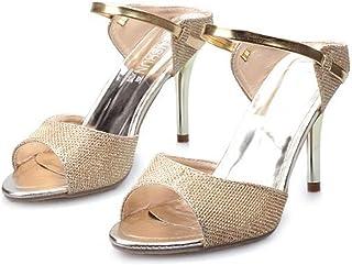 Women Heel Sandals Peep Toe High Heel Slipper Women Pumps Female Sandals Thin Heels Ladies Sandals Wedding Shoes Gold Silver