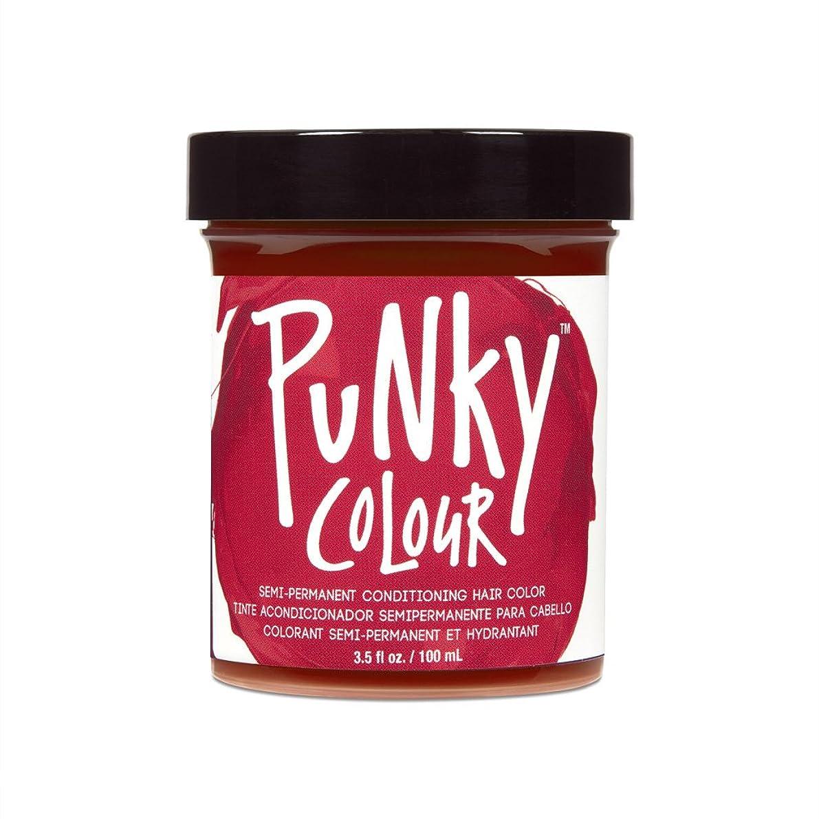 気づくなる混乱アルプス(3 Pack) JEROME RUSSELL Punky Color Semi-Permanent Conditioning Hair Color - Poppy Red (並行輸入品)