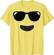 Sunglasses Cool Face Emoji Easy Lazy Group Halloween Costume T-Shirt