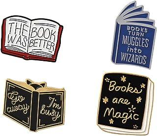 Aisoway Distintivo Letteratura Spilla 4pcs Spillette Hedgehog Libro della Serie del Fumetto
