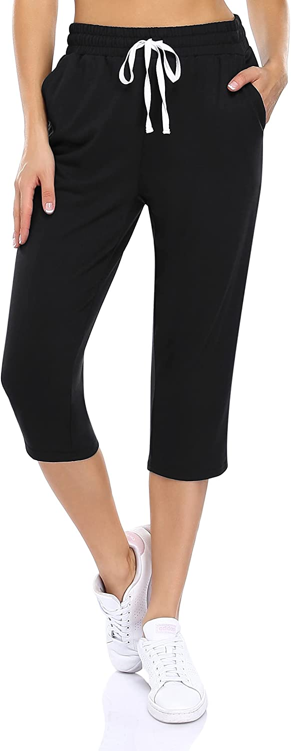 GloryStar Women's Capri Yoga At the price Pants Joggers Complete Free Shipping Wide Workout Draw Leg