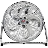 NETTA Gym Floor Standing Fan - 18' With 5 Blades - 3 Speeds And Tilt Option, Wall Mount Fixing Include -...