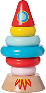 Manhattan Toy Stacker Rocket Baby and Toddler 7 Piece Magnetic Wooden Stacking Toy Set