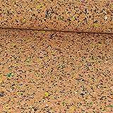 Korkstoff Konfetti braun bunt - Preis gilt für 0,5 Meter -
