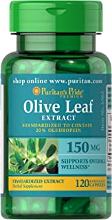 Puritan's Pride Olive Leaf Standardized Extract 150 mg-120 Capsules