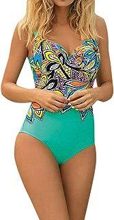 LUCA Women's Swimsuits One Piece Tummy Control Backless Sexy Print Beachwear